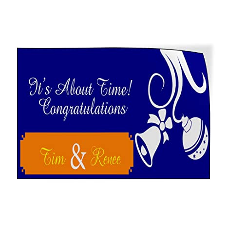 Wedding Bride Groom Lifestyle Congratulation Outdoor Luggage /& Bumper Stickers for Cars Blue 66X44Inches 1 Sticker Custom Door Decals Vinyl Stickers Multiple Sizes Congratulations