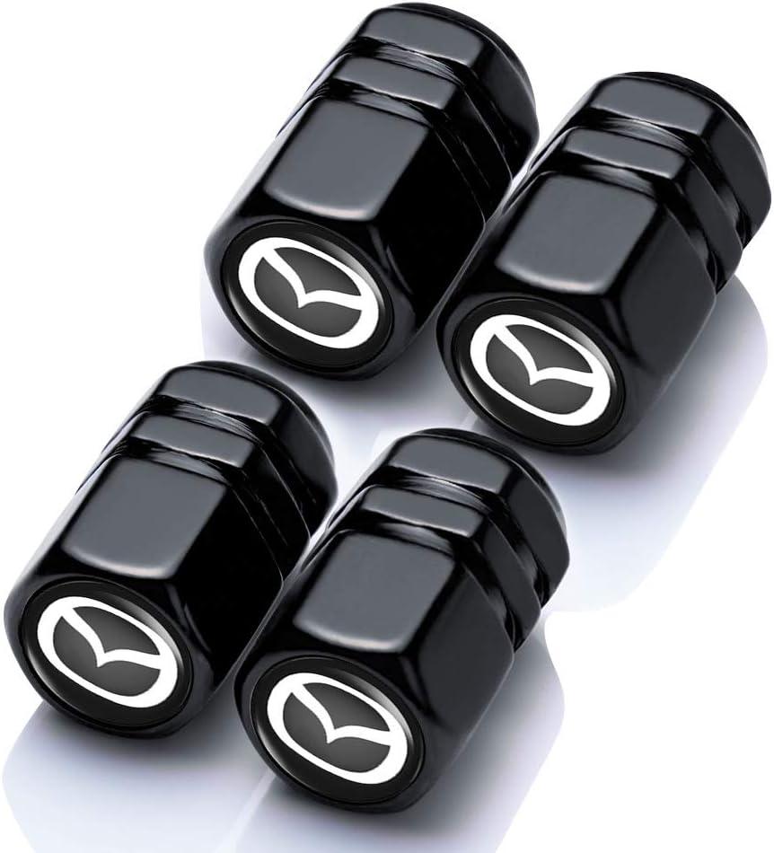 N//A 4 Pcs Metal Car Wheel Tire Valve Stem Caps Suit for Mazda 3 Axela 6 ATENZA CX-3 CX-4 CX-5 MX-5 Styling Decoration Accessories