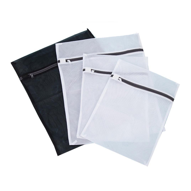 elevin ( TM )メッシュランドリーバッグブラランジェリー保護洗濯乾燥バッグジッパーホームストレージバッグ ホワイト B01H178B1Y  4