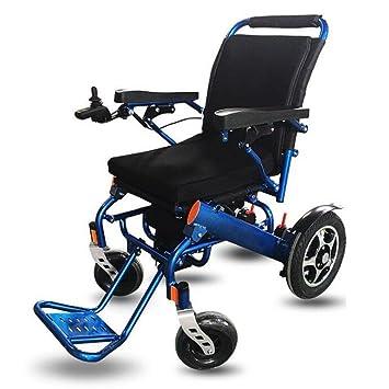 Silla De Ruedas Eléctrica Silla De Ruedas con Motor para El Anciano-Aluminio Ligero Plegable Silla De Ruedas: Amazon.es: Deportes y aire libre