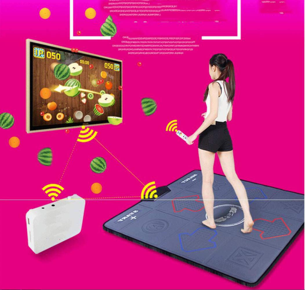 QXMEI Wireless Single Dance Mat TV Computer Dual-use Massage Game Machine 9381CM,Black by QXMEI (Image #3)