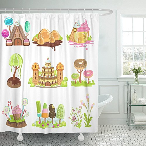 "Emvency 72""x78"" Shower Curtain Waterproof Land Fantasy Lands"