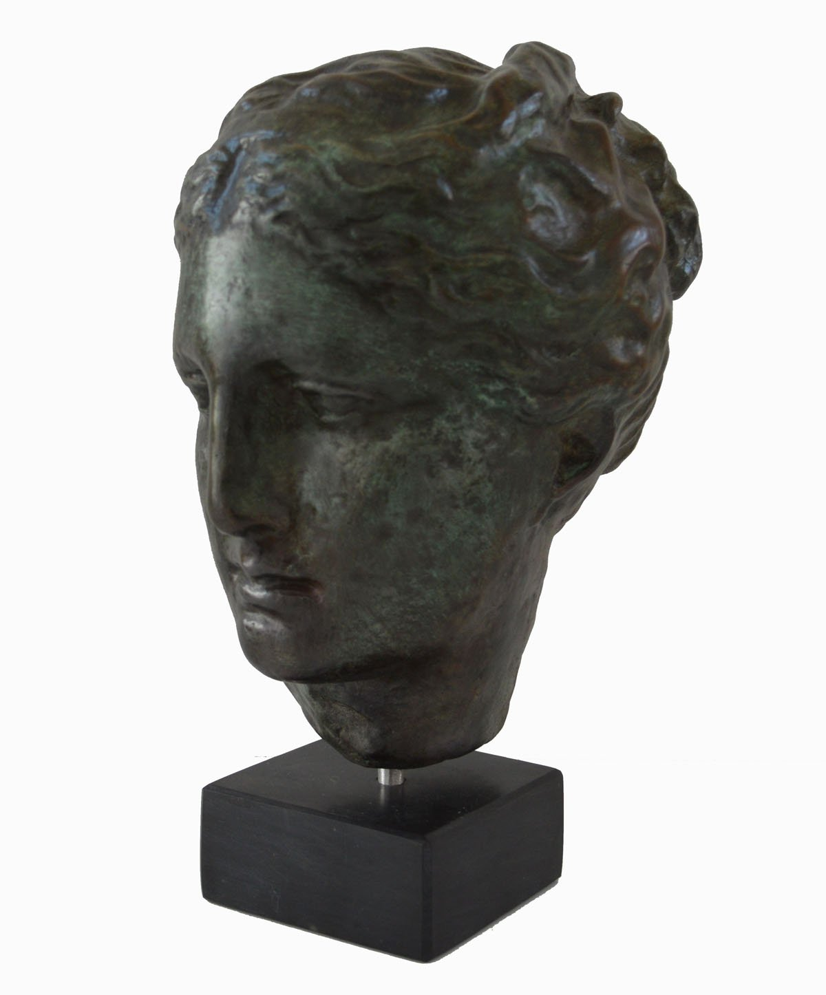 Hygieia bust with bronze color effect - Ancient Greek Goddess of health Hygeia - museum replica by Estia Creations (Image #3)