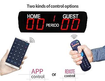GAN XIN 5 dígitos LED Digital Scoreboard Uso Interior Baloncesto fútbol  Juego Temporizador tamaño  9dabfadfc6c80
