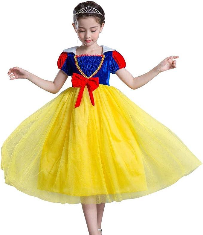 OwlFay Disfraz Blancanieves Niña Vestido de Princesas Carnaval ...