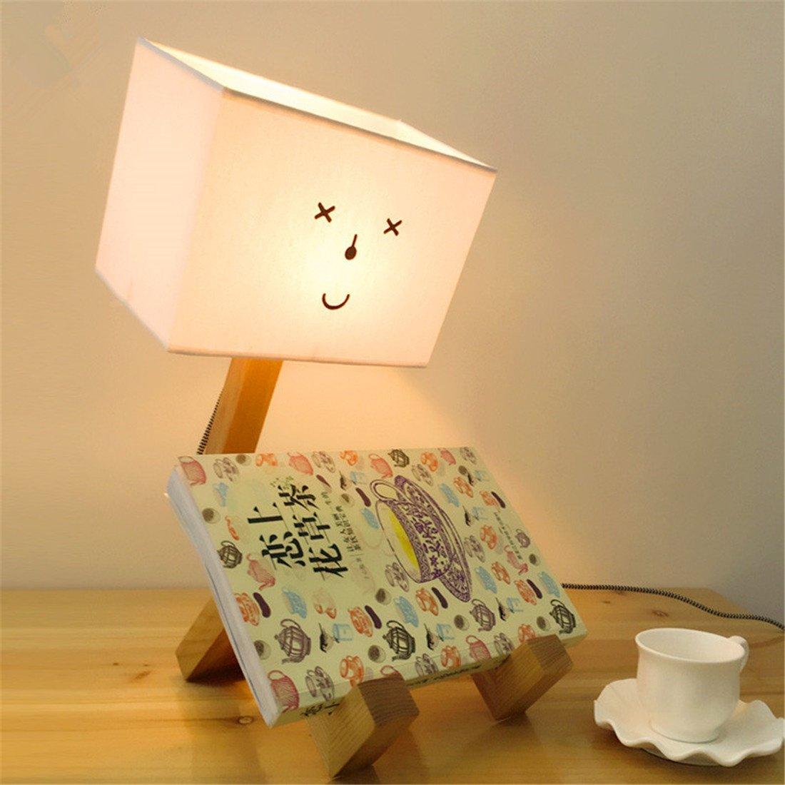 24 cm HONGLI Nordic LED Massivholz Einfache Moderne Kreative Mode Fantasie Warm Schöne Romantische Dekor Persönlichkeit Tischlampe Schlafzimmer Nachttisch Kinderzimmer 12 17