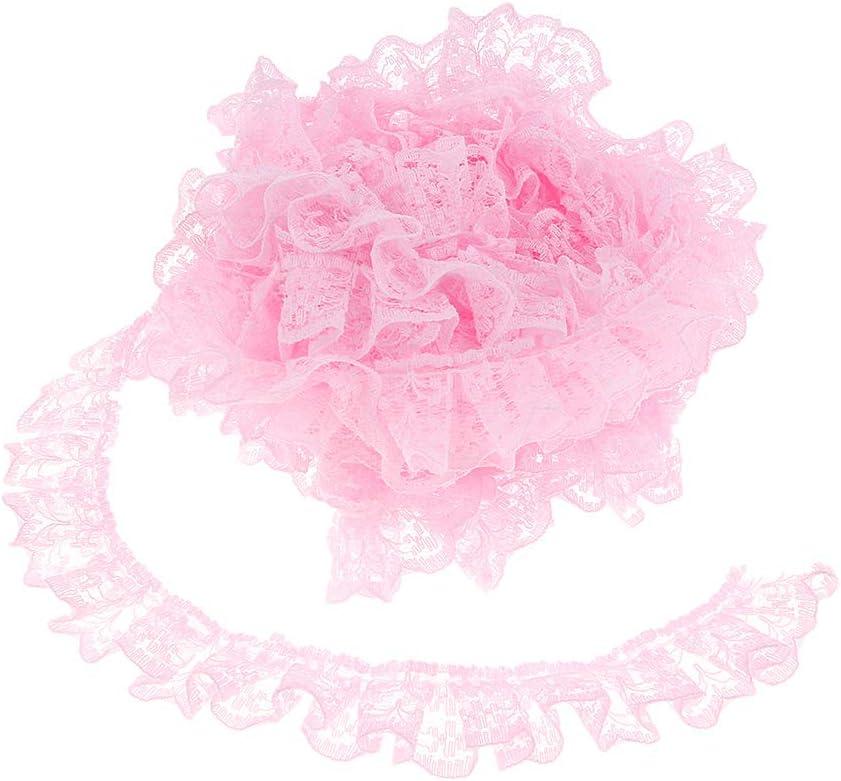 SM SunniMix 5 Yard Spitzenband Spitzenborte Faltenband Spitze Stoffband Spitzenbord/üre H/äkelband Blume Dekoband Gelb