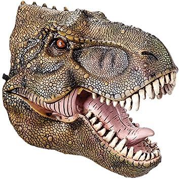 Carnival Toys - Máscara de goma Eva dinosaurio e con encabezado, color verde (664
