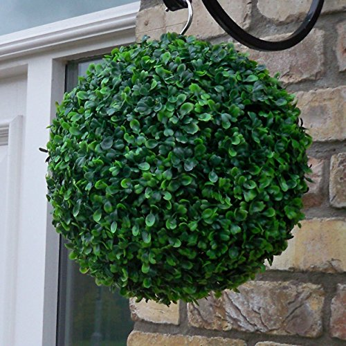 2 Pcs 30cm Artificial Green Boxwood Buxus Grass Hanging Topiary Balls Home Wedding Party Decor