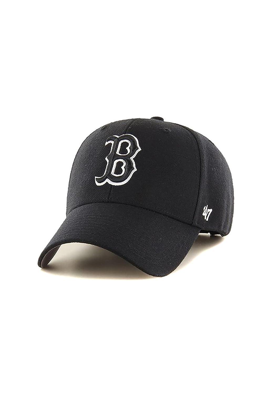 '47 Brand Boston Red Sox Black & White MVP Adjustable MLB Cap Black B-MVPSP02WBP-BKA
