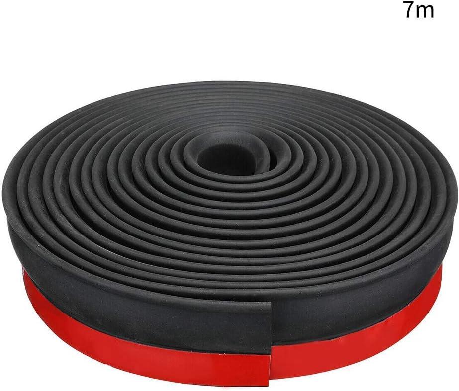 5m xiegons0 Universal Puerta de Garaje Umbral Sello Puerta Boceto Bloqueador Fondo Sello para Tap/ón Clima Pelado Noise Insonoro Negro+Rojo