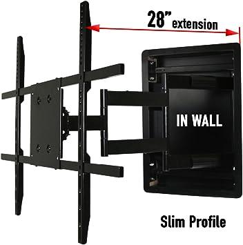 En pared de montaje de la televisión, empotrable en pared ...