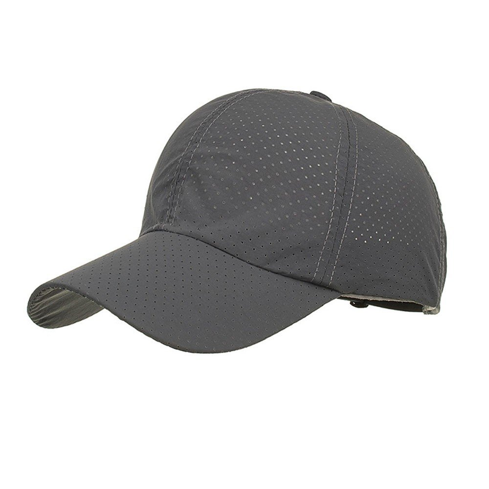 Cealu Unisex Fashion Golf Cap Adjustable Summer Solid Hat Ventilation Baseball Hats Breathable Lightweight Mesh Cap (Grey) by Cealu (Image #1)