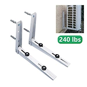 Forestchill Foldable Wall Mount Bracket, fits Mini Split Ductless Outdoor Unit Air Conditioner Condensing Unit Heat Pump System Condenser Universal Design, Support up to 240lbs, 7000-10000 BTU, 1-2P