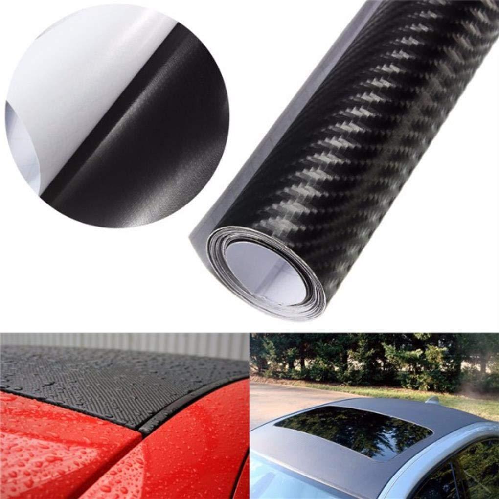 Yongse 3D Carbon Fiber Vinyl Car Wrap Sheet Rouleau Autocollant Film Decal DIY 100x12 'Black'