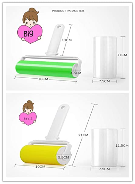 Amazon.com: Reusable oller Pet Hair Suitable for Sticky Non-stick Lint Roller Sticky Plush Hair Gel Roller for Dog Hair Cat Hair Sticky Glutinous Hair ...
