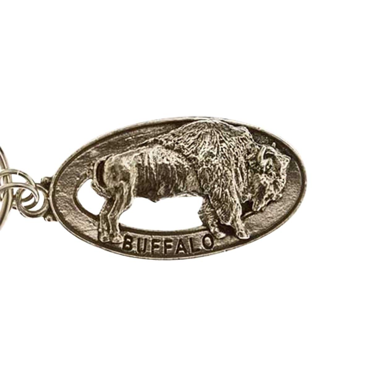 Creative Pewter Designs, Pewter Buffalo Key Chain, Antiqued Finish, MK029