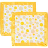 MiracleWare Muslin Security Blanket, Butter Polka Dots, 2 Pack