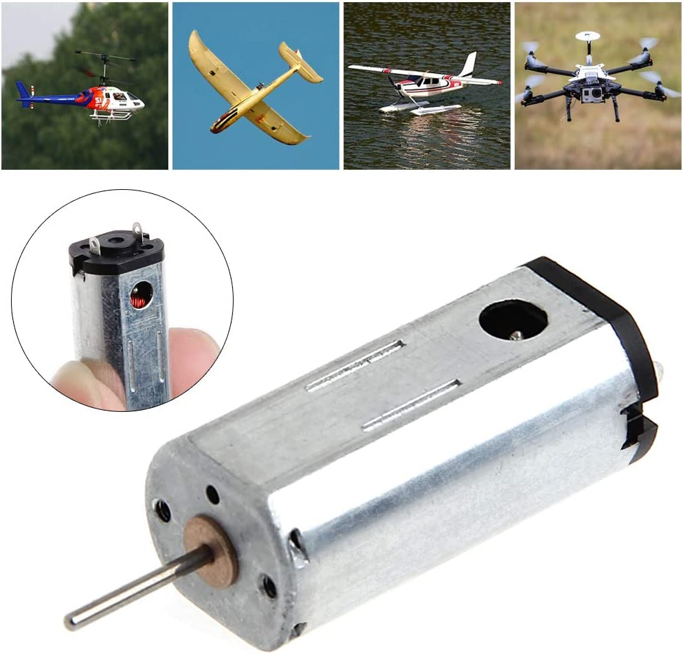 JOYKK 1Piece 27500 RPM High Speed Magnetic Motor Large Torque HM N50 Micro-motor 3.7V Silver