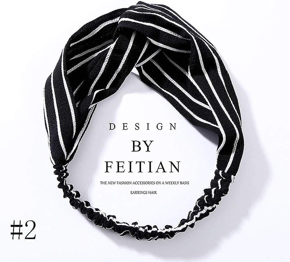 DAWEIF Women Headband,Girls Headwraps Hairbands,Boho Headbands for Women,Elastic Twisted Headband Floral Turban