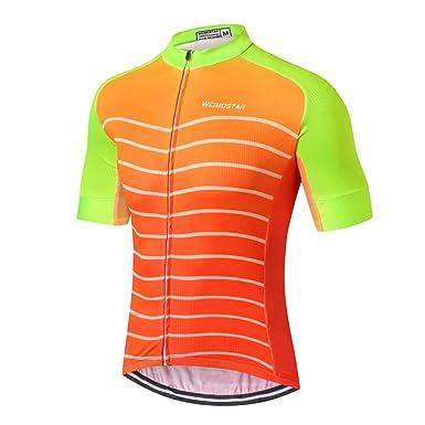 aa741d85c4f Shenshan Men s Cycling Jersey Short Sleeve Riding Shirts Bike Clothing Full  Zipper Bicycle Jacket Pockets Tops