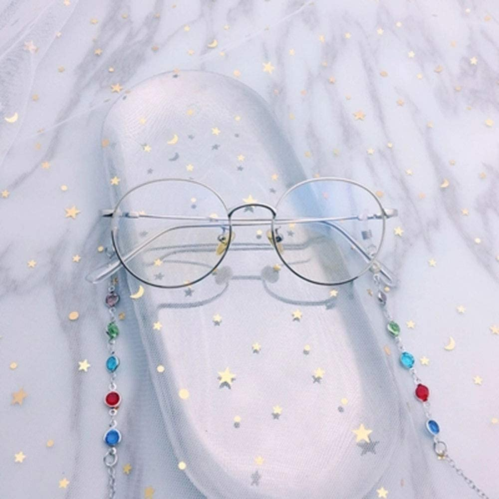 MZY1188 Catene per Occhiali Antiscivolo 1PC Occhiali da Vista in Oro con Cinturino in Corda con Strass Occhiali da Sole con Cordino Occhiali da Sole con Cordino sul Collo