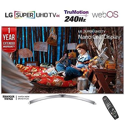 LG 65SJ8000 - 65-inch Super UHD 4K HDR Smart LED TV (2017 Model) + 1 Year Extended Warranty (Certified Refurbished)