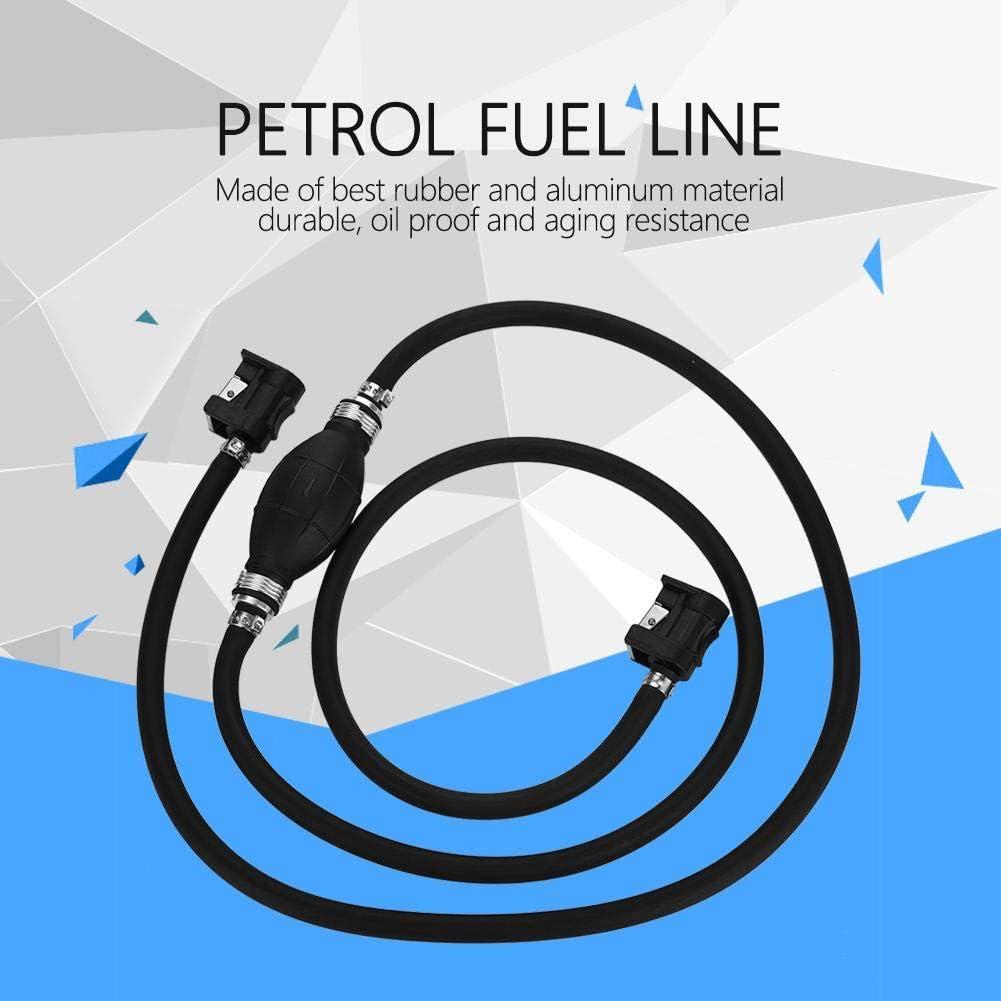 Fuel Pump Line Fuel Line Assembly Fuel Hand Pump with Hand Primer Bulb for Car Boat Black