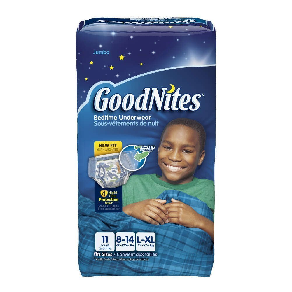 Amazon.com: Kimberly-Clark 41315 Goodnites Youth Pant, Boy, Large/X-Large,  Jumbo (Pack of 44): Industrial & Scientific