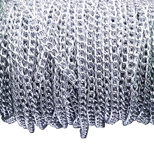 Aluminum Curb Chain Link in Bulk for Necklace Jewelry Accessories DIY Making 11 Yards 4.5mm -