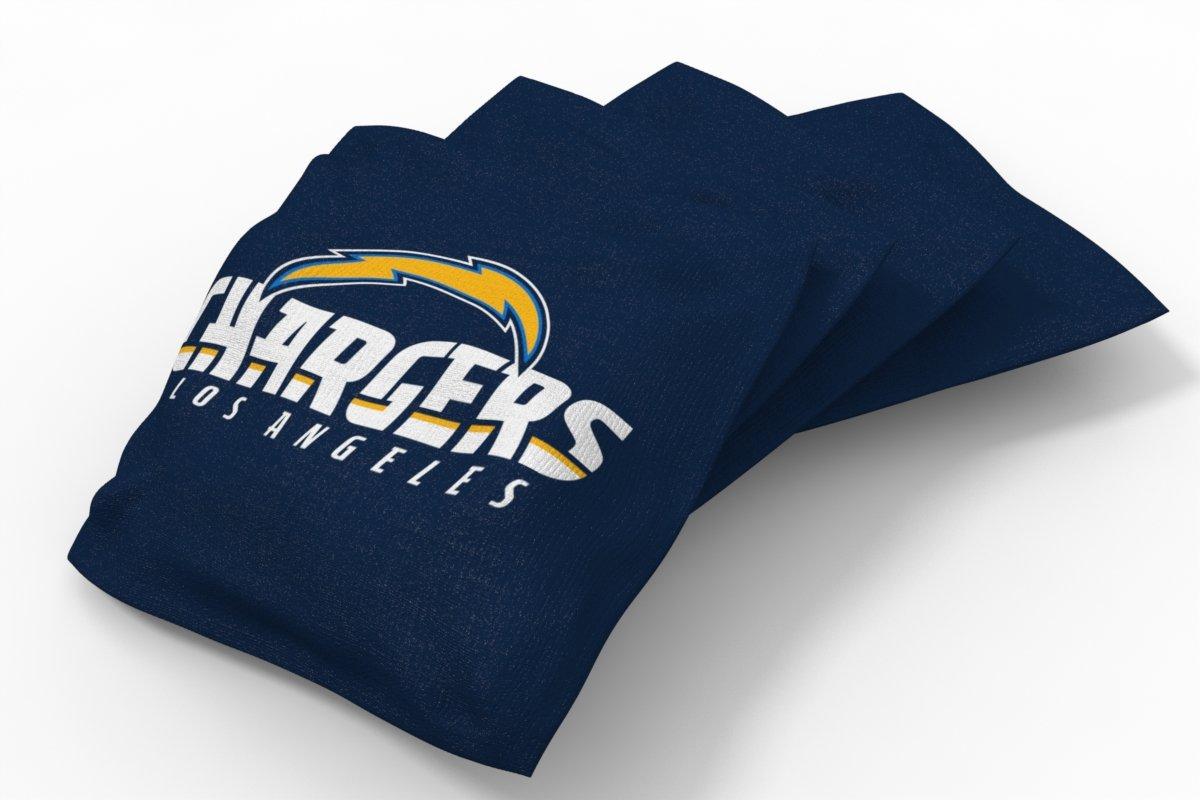 PROLINE NFL Los Angeles Chargers 2'x4' Cornhole Board Set - Logo Design by PROLINE (Image #3)