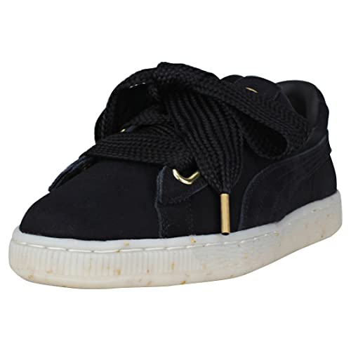 Puma Suede Heart Celebrate Donna Black Scamosciato Scarpe 5.5 UK
