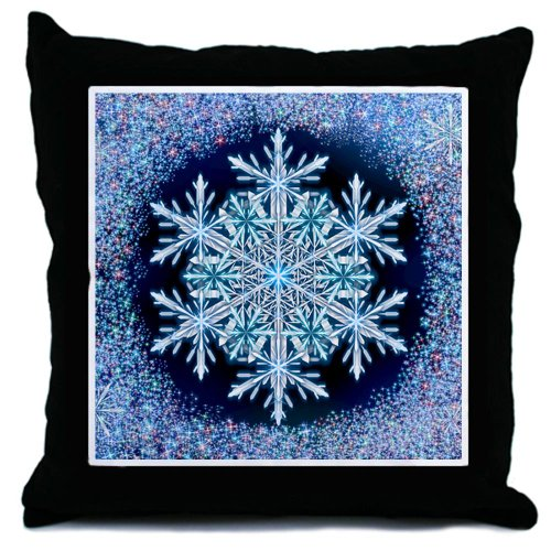 December Snowflake Throw Pillow