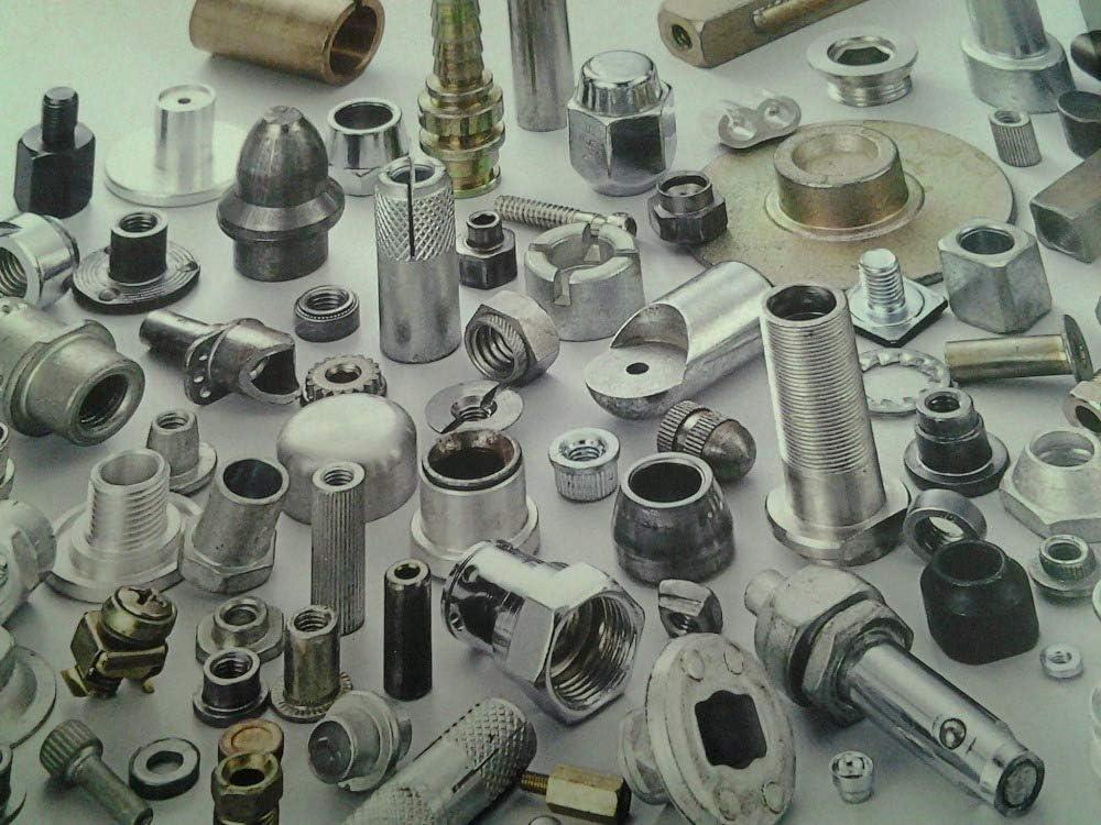 Ochoos STKC-M3-12 Thru-Threaded Molded-in Insert Kunrled Stainless Steel,Nature,PEM standrad,