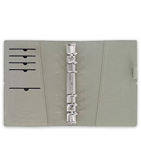 Filofax Domino 27802 - Agenda archivador (con elástico, 95 x 171 mm, piel): Amazon.es: Oficina y papelería