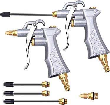 pistola de soplado de polvo neum/ática ajustable G1 // 4in accesorio de compresor de aire Plumero de aire industrial herramienta de limpieza de compresor de mano