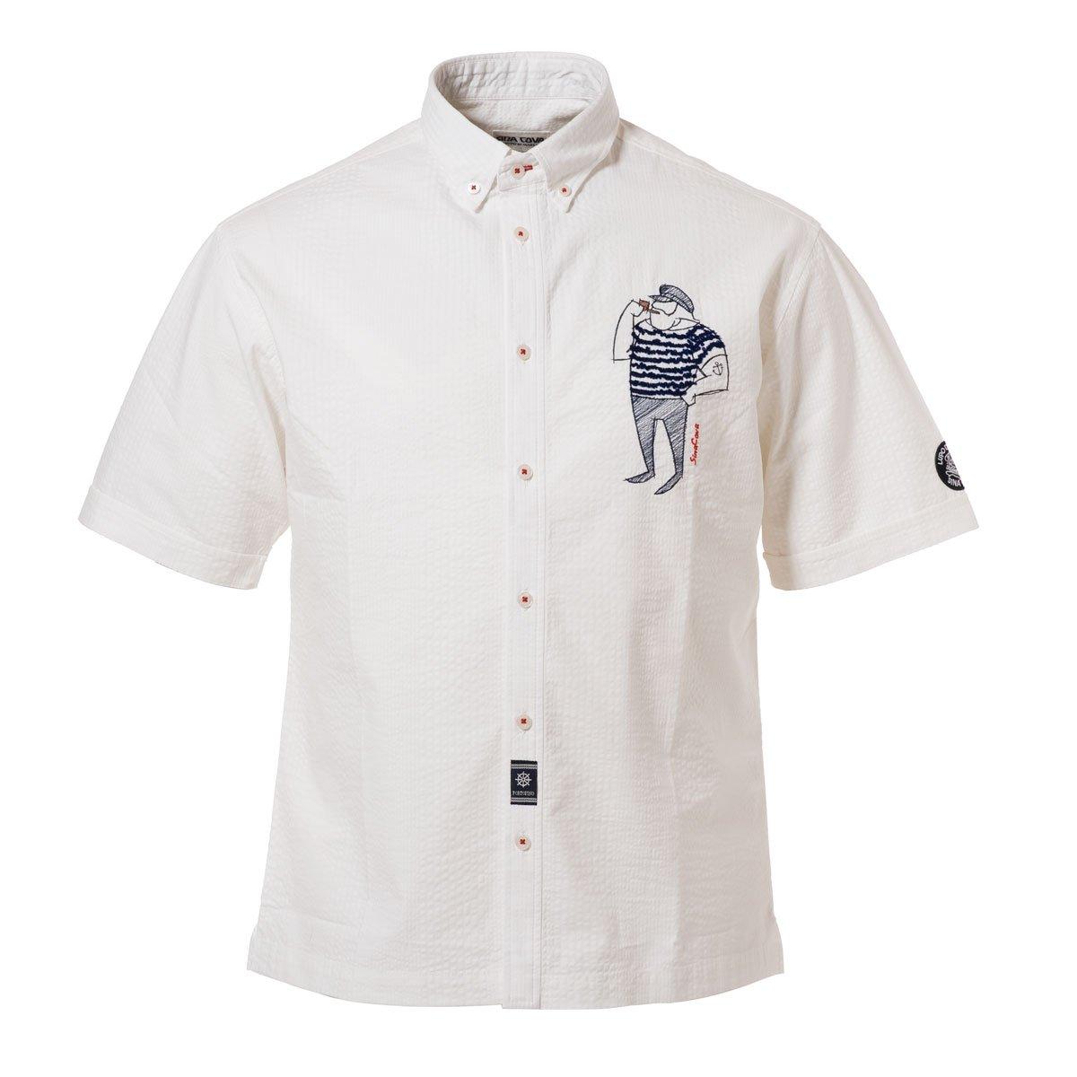 Cova SINACOVA 18134510 Men's Short Sleeve Shirt White X-Large