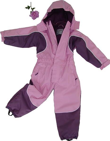 Kinder Schneeanzug Ski Overall Pink Gr 122 wasserdicht atmungsaktiv Skianzug