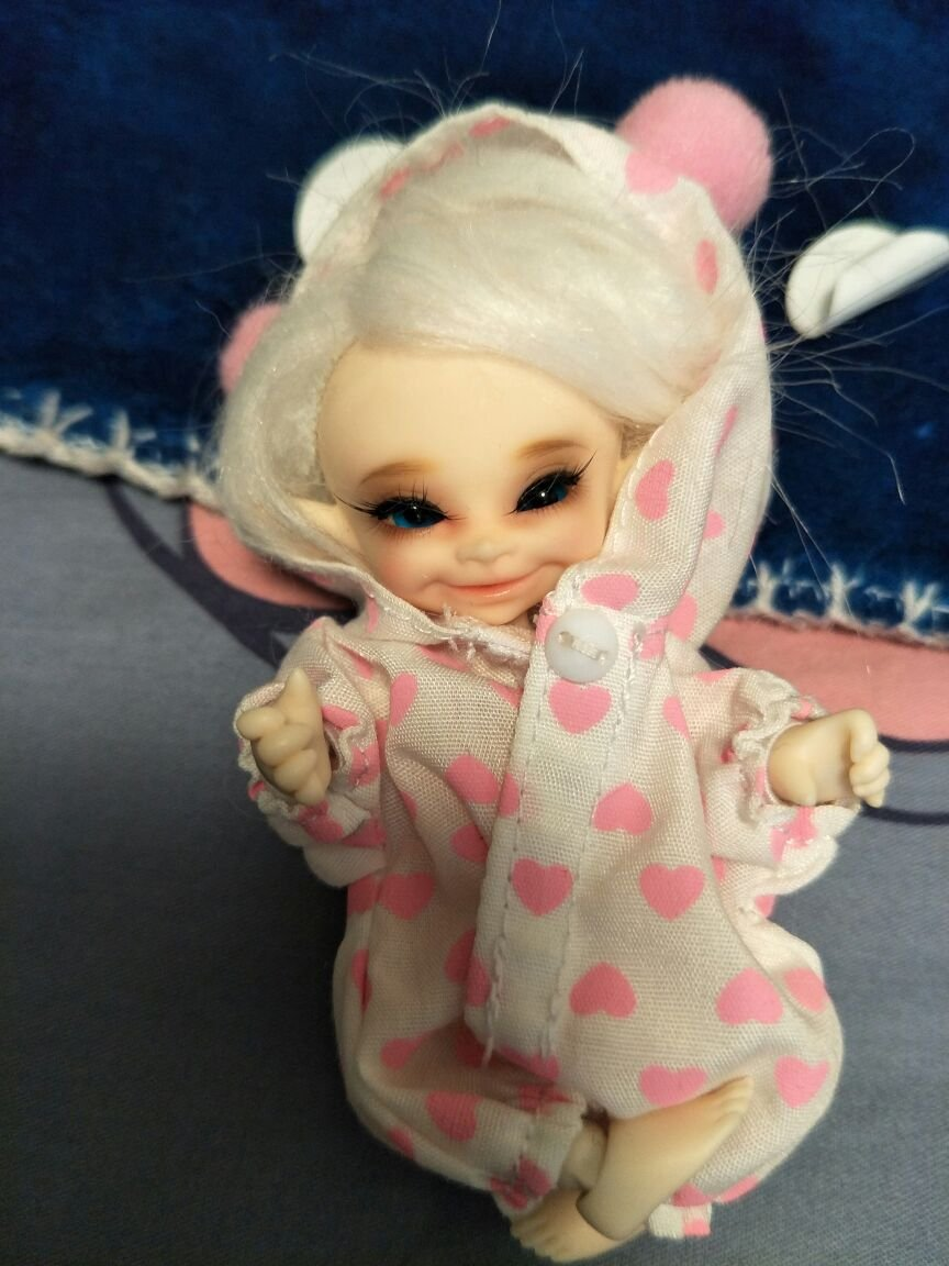 11.2CM Doll Baby BJD Doll 1/12 BJD Doll Dollfie / 100% Custom-made / Free Make-up + Free Gifts