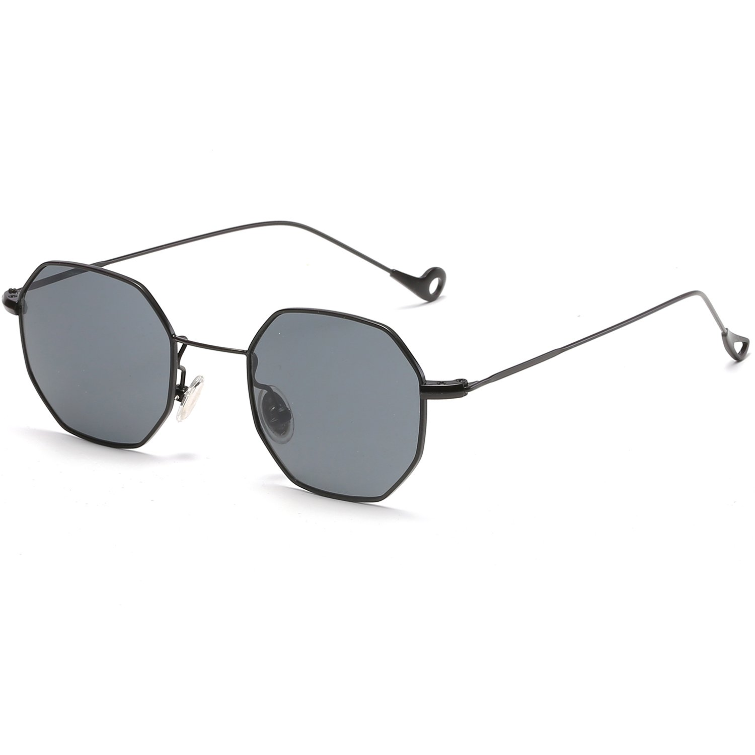 38b54222beb8 Trends Women Sunglasses Small Frame Polygon Clear Lens Sunglasses Brand Designer  Men Vintage Sun Glasses Hexagon Metal Frame  Amazon.co.uk  Clothing