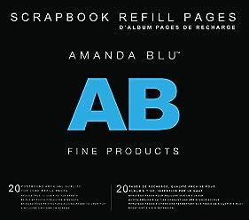 5b99d5fe04079 Amanda Blu Postbound Page Protectors 12x12 20 Pkg-Top-Loading