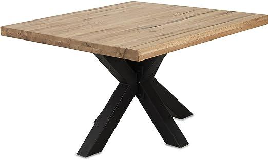Mobel Ideal Esstisch Eiche Massivholz Natur Geolt Tisch 120 X 120 X 76 Cm Esszimmertisch Massiv Wildeiche Quadratisch Amazon De Kuche Haushalt