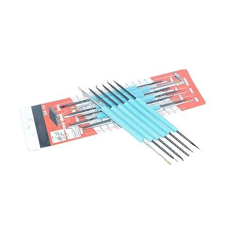 6 piezas de herramientas de reparación de molienda de soldadura con componentes electrónicos de precisión
