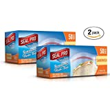 Sealpro Plastic Zip Seal Food Storage Bags Sandwich Size (100 Bags)