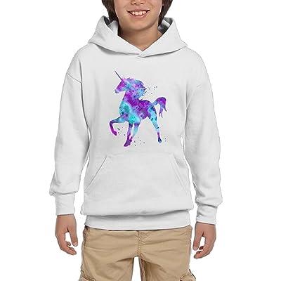 GUFEIFEIN Unicorn Youth Boys/Girls Hoodie Sweatshirt Pullover Hood With Pocket