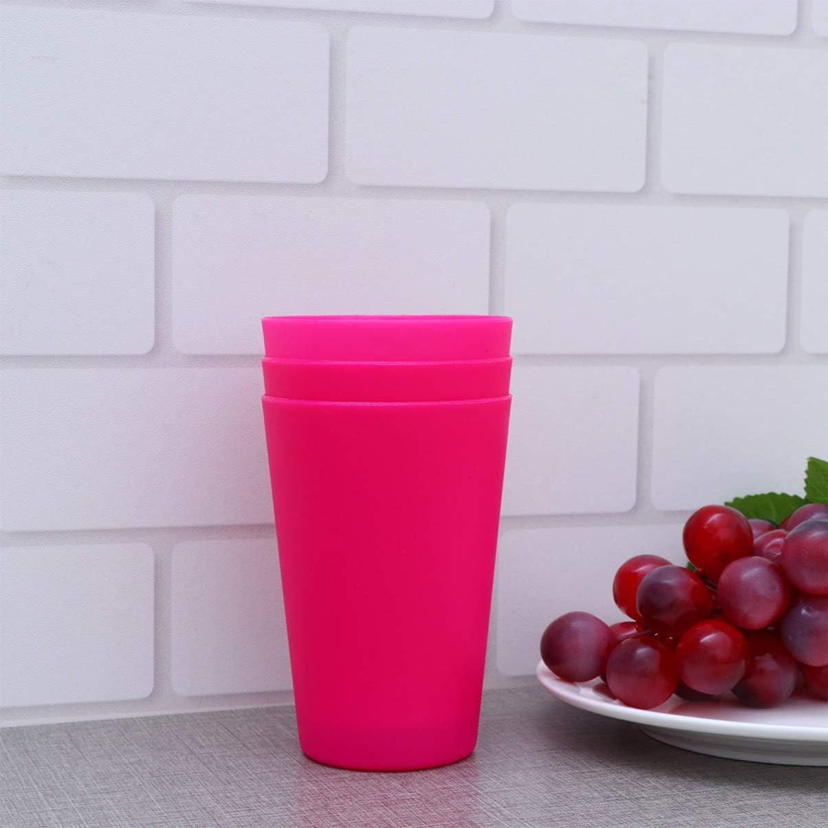 Amosfun 12 Piezas De Tazas De Pl/áStico Vasos De Color para Agua Bebida para Fiesta