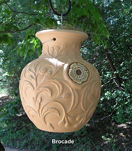 - Brocade Leaf Down Under Pot - Large Upside Down Pot