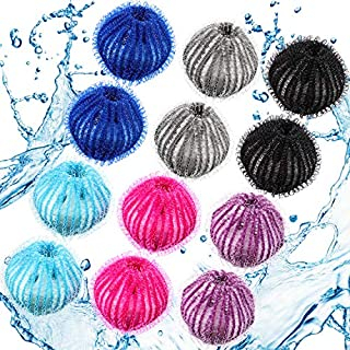Pet Hair Remover for Laundry Lint Remover Washing Balls Reusable Dryer Balls Pet Hair Dryer Ball Lint Remover for Laundry, 6 Colors (12)