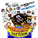Pirate Tattoos - 50 Assorted Temporary Tattoos (Pirate Party Supplies and Pirate Party Favors)