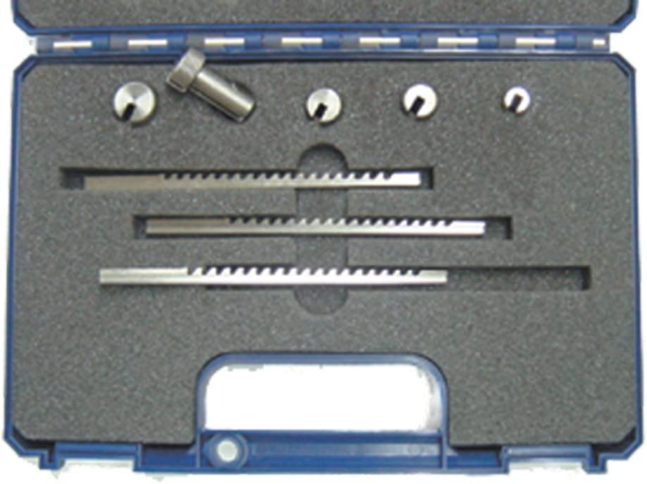 A Keyway Size A 2mm Keyway Broaches Sets 6Pcs HSS Metric Industrial Tools for Lathe 10A 3mm and Collared Bushings 6A 8A